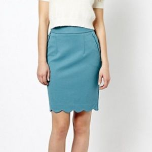 Darling Gracie Blue Bodycon Pensil Skirt
